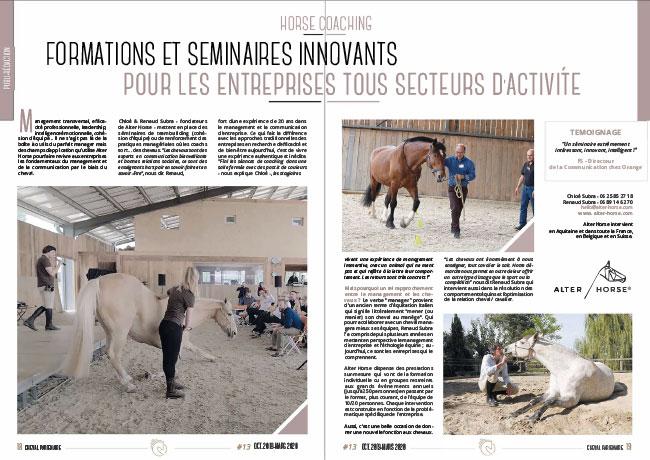 equicoaching pour entreprises séminaires team building incentive Bordeaux Paris Ile-de-France Gironde